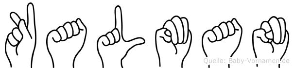 Kalman im Fingeralphabet der Deutschen Gebärdensprache