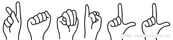 Kamill in Fingersprache für Gehörlose
