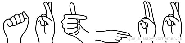 Arthur in Fingersprache für Gehörlose