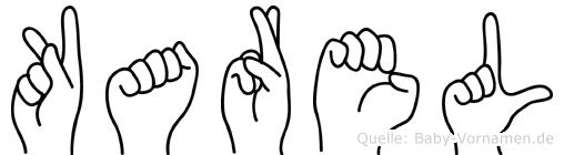 Karel im Fingeralphabet der Deutschen Gebärdensprache
