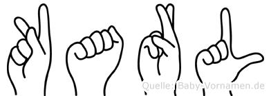 Karl in Fingersprache für Gehörlose