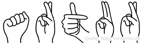 Artur in Fingersprache für Gehörlose