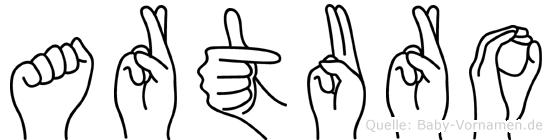 Arturo in Fingersprache für Gehörlose