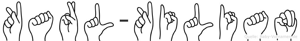 Karl-Kilian im Fingeralphabet der Deutschen Gebärdensprache