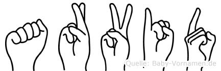 Arvid im Fingeralphabet der Deutschen Gebärdensprache