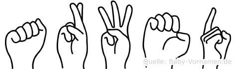 Arwed im Fingeralphabet der Deutschen Gebärdensprache