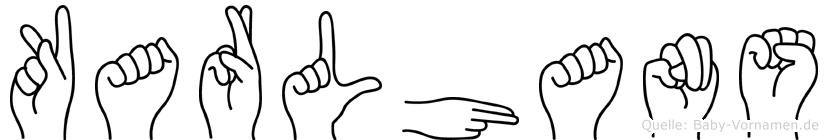 Karlhans in Fingersprache für Gehörlose