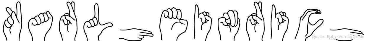 Karlheinrich in Fingersprache für Gehörlose