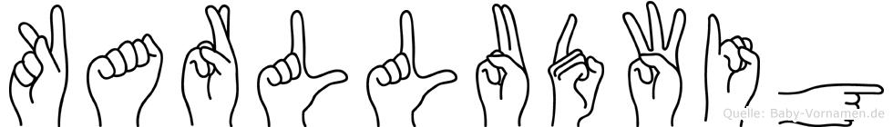 Karlludwig im Fingeralphabet der Deutschen Gebärdensprache