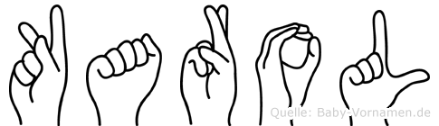 Karol im Fingeralphabet der Deutschen Gebärdensprache