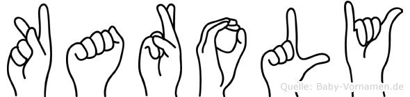 Karoly im Fingeralphabet der Deutschen Gebärdensprache