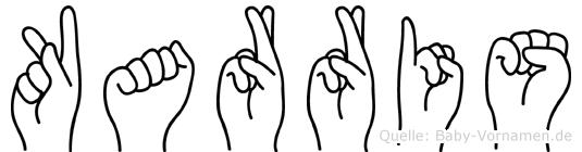 Karris im Fingeralphabet der Deutschen Gebärdensprache
