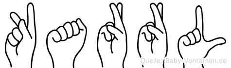 Karrl in Fingersprache für Gehörlose