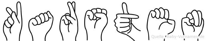 Karsten im Fingeralphabet der Deutschen Gebärdensprache