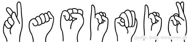 Kasimir im Fingeralphabet der Deutschen Gebärdensprache