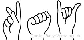Kay in Fingersprache für Gehörlose