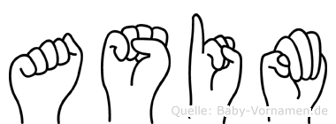 Asim im Fingeralphabet der Deutschen Gebärdensprache