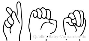Ken im Fingeralphabet der Deutschen Gebärdensprache