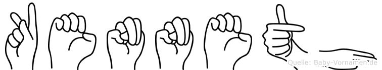 Kenneth in Fingersprache für Gehörlose