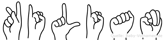 Kilian in Fingersprache für Gehörlose