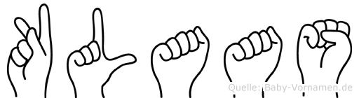 Klaas in Fingersprache für Gehörlose