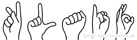 Klaif in Fingersprache für Gehörlose