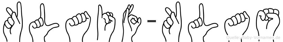 Klaif-Klas im Fingeralphabet der Deutschen Gebärdensprache