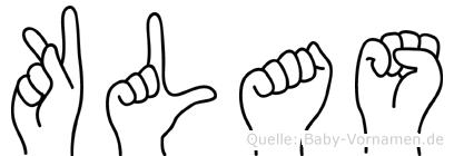 Klas in Fingersprache für Gehörlose
