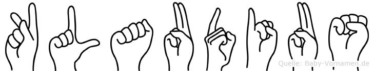 Klaudius in Fingersprache für Gehörlose