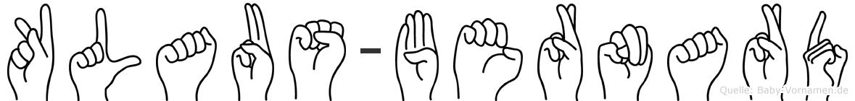 Klaus-Bernard im Fingeralphabet der Deutschen Gebärdensprache