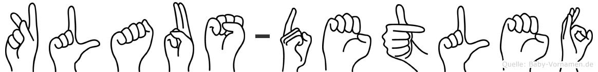 Klaus-Detlef im Fingeralphabet der Deutschen Gebärdensprache