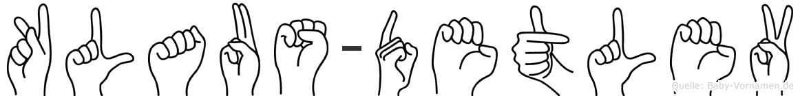 Klaus-Detlev im Fingeralphabet der Deutschen Gebärdensprache