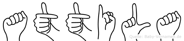 Attila in Fingersprache für Gehörlose