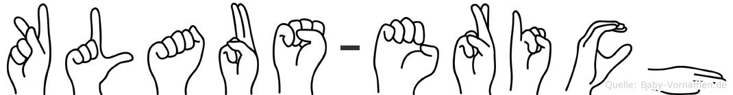 Klaus-Erich im Fingeralphabet der Deutschen Gebärdensprache