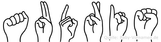 Audris im Fingeralphabet der Deutschen Gebärdensprache