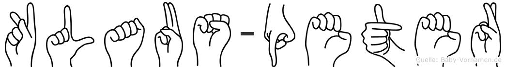 Klaus-Peter im Fingeralphabet der Deutschen Gebärdensprache