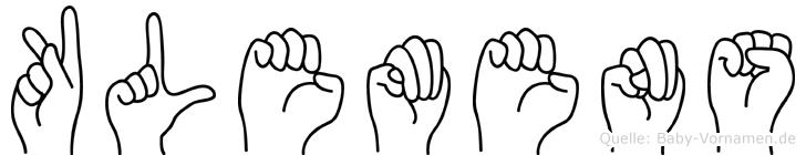 Klemens in Fingersprache für Gehörlose