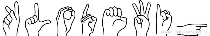 Klodewig in Fingersprache für Gehörlose