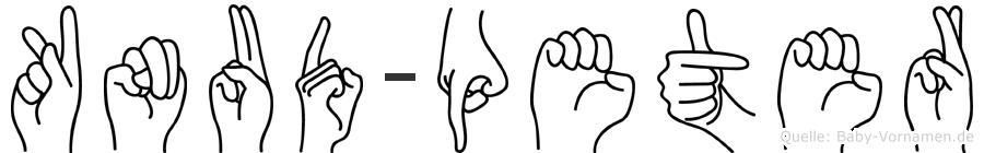 Knud-Peter im Fingeralphabet der Deutschen Gebärdensprache