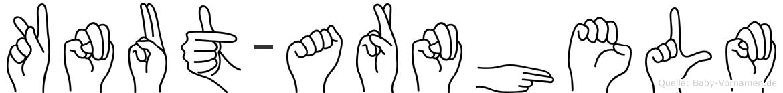 Knut-Arnhelm im Fingeralphabet der Deutschen Gebärdensprache