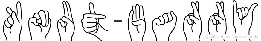Knut-Barry im Fingeralphabet der Deutschen Gebärdensprache
