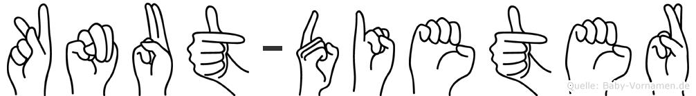 Knut-Dieter im Fingeralphabet der Deutschen Gebärdensprache