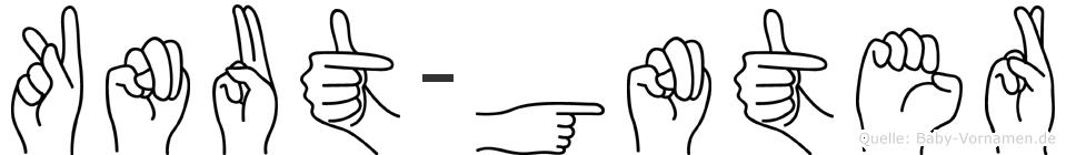 Knut-Günter im Fingeralphabet der Deutschen Gebärdensprache