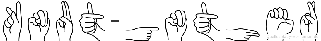 Knut-Günther im Fingeralphabet der Deutschen Gebärdensprache