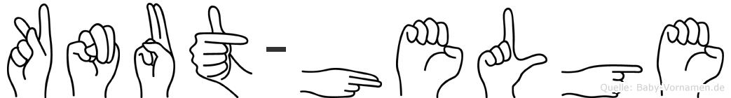 Knut-Helge im Fingeralphabet der Deutschen Gebärdensprache