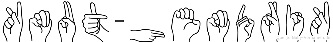 Knut-Hendrik im Fingeralphabet der Deutschen Gebärdensprache