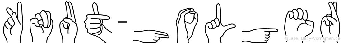 Knut-Holger im Fingeralphabet der Deutschen Gebärdensprache