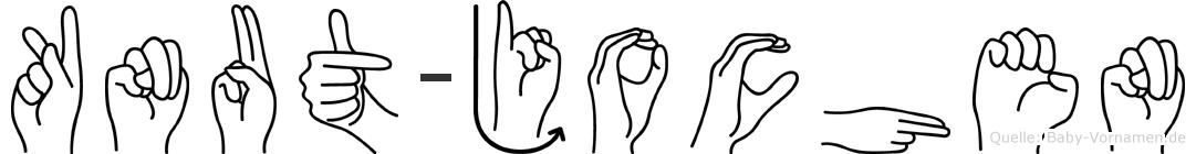 Knut-Jochen im Fingeralphabet der Deutschen Gebärdensprache