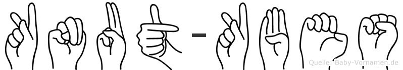 Knut-Köbes im Fingeralphabet der Deutschen Gebärdensprache