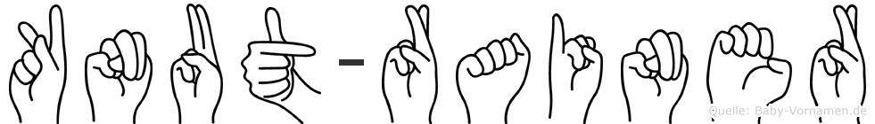 Knut-Rainer im Fingeralphabet der Deutschen Gebärdensprache